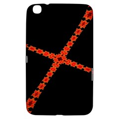 Red Fractal Cross Digital Computer Graphic Samsung Galaxy Tab 3 (8 ) T3100 Hardshell Case
