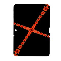 Red Fractal Cross Digital Computer Graphic Samsung Galaxy Tab 2 (10.1 ) P5100 Hardshell Case