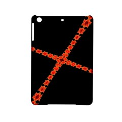 Red Fractal Cross Digital Computer Graphic iPad Mini 2 Hardshell Cases