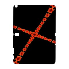 Red Fractal Cross Digital Computer Graphic Galaxy Note 1