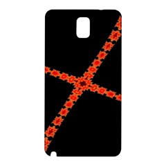 Red Fractal Cross Digital Computer Graphic Samsung Galaxy Note 3 N9005 Hardshell Back Case