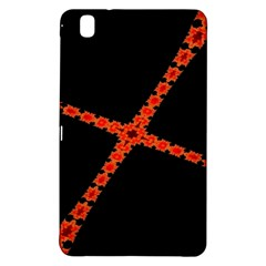 Red Fractal Cross Digital Computer Graphic Samsung Galaxy Tab Pro 8.4 Hardshell Case