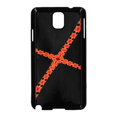 Red Fractal Cross Digital Computer Graphic Samsung Galaxy Note 3 Neo Hardshell Case (Black)