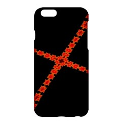 Red Fractal Cross Digital Computer Graphic Apple iPhone 6 Plus/6S Plus Hardshell Case