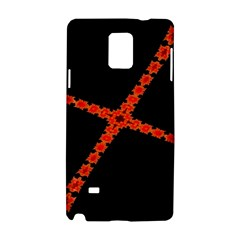 Red Fractal Cross Digital Computer Graphic Samsung Galaxy Note 4 Hardshell Case