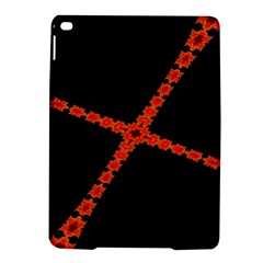 Red Fractal Cross Digital Computer Graphic Ipad Air 2 Hardshell Cases