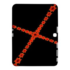 Red Fractal Cross Digital Computer Graphic Samsung Galaxy Tab 4 (10 1 ) Hardshell Case