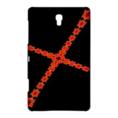 Red Fractal Cross Digital Computer Graphic Samsung Galaxy Tab S (8 4 ) Hardshell Case