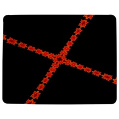 Red Fractal Cross Digital Computer Graphic Jigsaw Puzzle Photo Stand (rectangular)