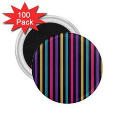Stripes Colorful Multi Colored Bright Stripes Wallpaper Background Pattern 2 25  Magnets (100 Pack)