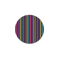 Stripes Colorful Multi Colored Bright Stripes Wallpaper Background Pattern Golf Ball Marker (10 Pack)