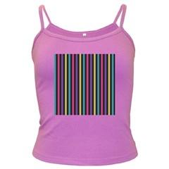 Stripes Colorful Multi Colored Bright Stripes Wallpaper Background Pattern Dark Spaghetti Tank