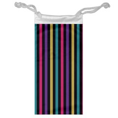 Stripes Colorful Multi Colored Bright Stripes Wallpaper Background Pattern Jewelry Bag