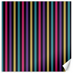 Stripes Colorful Multi Colored Bright Stripes Wallpaper Background Pattern Canvas 12  X 12
