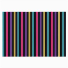 Stripes Colorful Multi Colored Bright Stripes Wallpaper Background Pattern Large Glasses Cloth (2 Side)