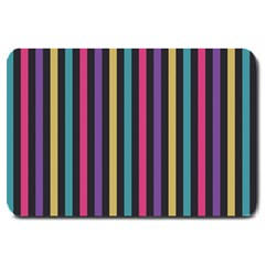 Stripes Colorful Multi Colored Bright Stripes Wallpaper Background Pattern Large Doormat