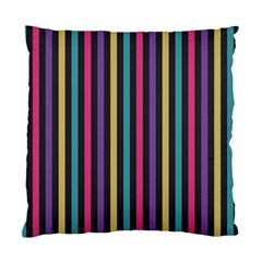 Stripes Colorful Multi Colored Bright Stripes Wallpaper Background Pattern Standard Cushion Case (two Sides)
