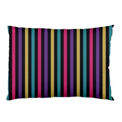 Stripes Colorful Multi Colored Bright Stripes Wallpaper Background Pattern Pillow Case