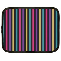 Stripes Colorful Multi Colored Bright Stripes Wallpaper Background Pattern Netbook Case (xxl)