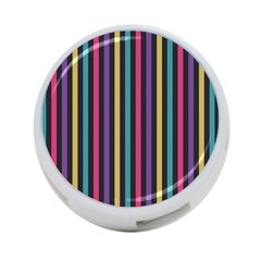 Stripes Colorful Multi Colored Bright Stripes Wallpaper Background Pattern 4 Port Usb Hub (one Side)