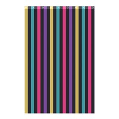 Stripes Colorful Multi Colored Bright Stripes Wallpaper Background Pattern Shower Curtain 48  X 72  (small)