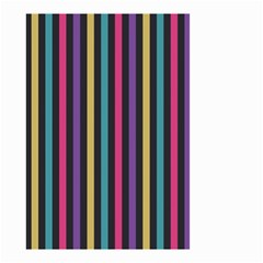 Stripes Colorful Multi Colored Bright Stripes Wallpaper Background Pattern Small Garden Flag (Two Sides)
