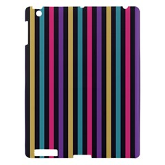 Stripes Colorful Multi Colored Bright Stripes Wallpaper Background Pattern Apple iPad 3/4 Hardshell Case