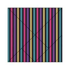 Stripes Colorful Multi Colored Bright Stripes Wallpaper Background Pattern Acrylic Tangram Puzzle (6  x 6 )