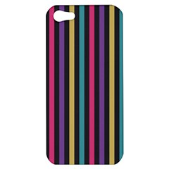 Stripes Colorful Multi Colored Bright Stripes Wallpaper Background Pattern Apple iPhone 5 Hardshell Case