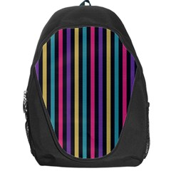 Stripes Colorful Multi Colored Bright Stripes Wallpaper Background Pattern Backpack Bag