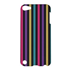 Stripes Colorful Multi Colored Bright Stripes Wallpaper Background Pattern Apple iPod Touch 5 Hardshell Case