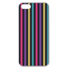 Stripes Colorful Multi Colored Bright Stripes Wallpaper Background Pattern Apple Seamless iPhone 5 Case (Clear)