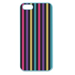 Stripes Colorful Multi Colored Bright Stripes Wallpaper Background Pattern Apple Seamless Iphone 5 Case (color)