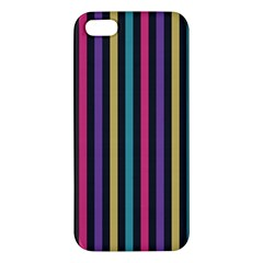 Stripes Colorful Multi Colored Bright Stripes Wallpaper Background Pattern Apple iPhone 5 Premium Hardshell Case