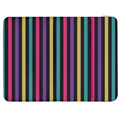 Stripes Colorful Multi Colored Bright Stripes Wallpaper Background Pattern Samsung Galaxy Tab 7  P1000 Flip Case