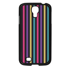 Stripes Colorful Multi Colored Bright Stripes Wallpaper Background Pattern Samsung Galaxy S4 I9500/ I9505 Case (Black)