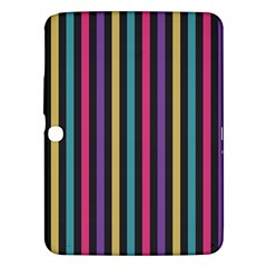 Stripes Colorful Multi Colored Bright Stripes Wallpaper Background Pattern Samsung Galaxy Tab 3 (10.1 ) P5200 Hardshell Case
