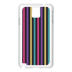 Stripes Colorful Multi Colored Bright Stripes Wallpaper Background Pattern Samsung Galaxy Note 3 N9005 Case (White)