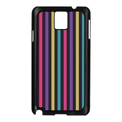 Stripes Colorful Multi Colored Bright Stripes Wallpaper Background Pattern Samsung Galaxy Note 3 N9005 Case (black)
