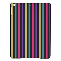 Stripes Colorful Multi Colored Bright Stripes Wallpaper Background Pattern iPad Air Hardshell Cases