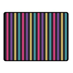 Stripes Colorful Multi Colored Bright Stripes Wallpaper Background Pattern Double Sided Fleece Blanket (Small)