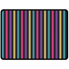 Stripes Colorful Multi Colored Bright Stripes Wallpaper Background Pattern Double Sided Fleece Blanket (Large)