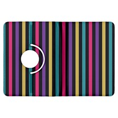Stripes Colorful Multi Colored Bright Stripes Wallpaper Background Pattern Kindle Fire HDX Flip 360 Case