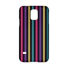 Stripes Colorful Multi Colored Bright Stripes Wallpaper Background Pattern Samsung Galaxy S5 Hardshell Case