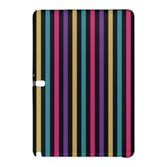 Stripes Colorful Multi Colored Bright Stripes Wallpaper Background Pattern Samsung Galaxy Tab Pro 10.1 Hardshell Case