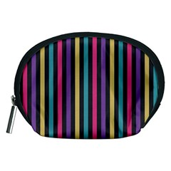 Stripes Colorful Multi Colored Bright Stripes Wallpaper Background Pattern Accessory Pouches (Medium)