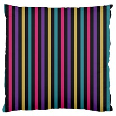 Stripes Colorful Multi Colored Bright Stripes Wallpaper Background Pattern Large Flano Cushion Case (one Side)
