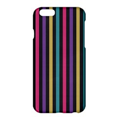 Stripes Colorful Multi Colored Bright Stripes Wallpaper Background Pattern Apple iPhone 6 Plus/6S Plus Hardshell Case