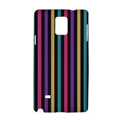 Stripes Colorful Multi Colored Bright Stripes Wallpaper Background Pattern Samsung Galaxy Note 4 Hardshell Case