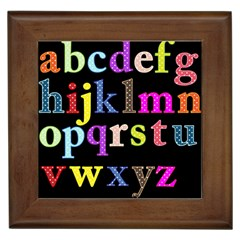 Alphabet Letters Colorful Polka Dots Letters In Lower Case Framed Tiles